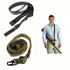 Tactical MOLLE Army 3 Point Adjustable Bungee Rifle Gun Sling System Hook Strap