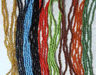 Long glass beaded necklaces Small beads - various colours