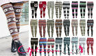 NEW WOMEN LADIES CHUNKY CABLE KNIT PATTERN KNITTED THICK WOOL WARM LEGGINGS 8-14