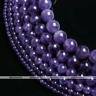 4/6/8/10/12/14mm Fashion Beauty Round Natural Gemstone Amethyst Loose Bead Gift