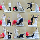 Funny Wedding Cake Toppers Figurine Bride Groom Humor Favors Unique Gift Topper