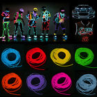3M/5M LED Flash Flexible Neon Light Glow EL Strip Tube Wire Rope + Battery Case