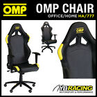 HA/777 OMP RACING RALLY LEATHER OFFICE CHAIR ON WHEELS! HOME/OFFICE/WORK