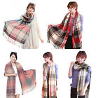 New Womens Winter Warm Neck Shawl Cashmere Scarf Wrap Stole Plaid Pashmina