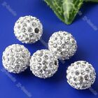 5pc Crystal Metal Spacer Disco Hip Hop Ball Loose Bead 10mm 11Color Choice