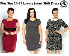 LADIES SMART SHIFT DRESS PLUS SIZE16-32 LARGE TUNIC TOP BLOUSE PARTY CASUAL WORK