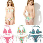 Colloyes Padded Triangle Top Bottom Bikini Set Sexy Lady Beach Swimsuit Swimwear