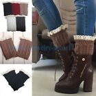 5 Colors Nice Crochet Knitted Lace Trim Boot Cuffs Toppers Leg Warmers Socks,