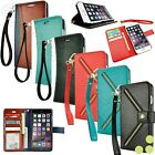 For Apple iPhone 6 / iPhone 6S Plus Leather Flip Cover Card Wallet Case