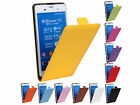 For Sony Xpeira Z3 case PU Leather Up And Down Flip Case Cover