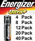 AA 1.5v Alkaline Batteries Energizer Ultra Plus 4 8 12 20 40 Packs MN1500 LR6