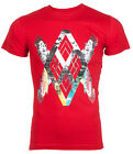 ARMANI EXCHANGE AX Mens T-Shirt WINGS Slim RED Casual Designer Jeans M-XL $48