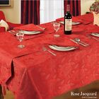 New Jacquard Rose Christmas Red Tablecloths, Napkins, Runners & Placemats