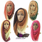 ****OMBRÉ TIE DIE 3 in 1 COLOUR MAXI LARGE HIJAB SCARF SHAWL ABAYA SARONG****