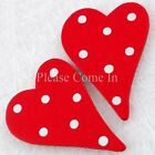 Polkadot Wooden Heart with Adhesive Sponge for Scrapbooking/Wedding Decorations