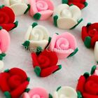 20 Mini Fimo Polymer Clay Roses for Decoration