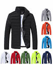 Men Winter Stand Collar Slim Cotton Padded Thick Warm Wadded Jacket Coat Outwear