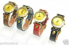 Quartz Ladies Woman Watch Wristwatch Wristband Leather Vintage Style gift