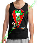 New Christmas Tuxedo Costume Tank Top Outfit Funny Santa Ugly Sweater Suit Tee