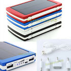 10000mAh Solar Battery Charger Dual USB Power Bank for Iphone 4 5 Samsung HTC UK