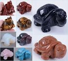 52-53mm Carved gemstone turtle figurine/statue 2""