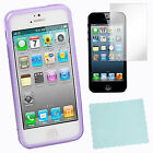 X-Line Curve TPU Gel Case +Screen Protector x2+B Cloth For Apple iPhone 5 5th