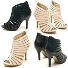 NEW LADIES DOLCIS PEEP TOE STRAPPY FASHION EVENING PARTY SUMMER SANDALS SIZE