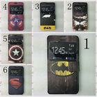 New US Hero Super / Bat man PU leather Flip cover case for Sony Xperia Z2 Z3