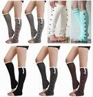Women's Crochet Knit With Button Leg Lace Trim Toppers Boot Socks Cuffs Newesrt