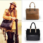 Fashion Women's Europen Style Tote Bag Leather+PU Handbag Shoulder/Messenger Bag