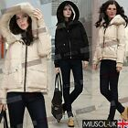 Women Ladies Winter Fur Parka Girl Fleece Down Jacket Coats Hoodies Size 810246