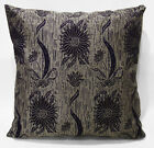 Ng13a Beige Lt Grey Sun Flower Thick Linen Cushion Cover/Pillow Case Custom Size