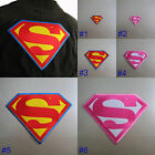 Superman / Supergirl Iron On / Sew Cloth Patch Badge Appliqué Hot Fix Superhero