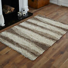 NEW 5cm HIGH PILE THICK NON SHED LARGE MEDIUM SMALL BEIGE CREAM SHAGGY RUGS