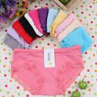 1/6/12pcs Wholesale Women Bodybuilding Sexy Soft Lace Panties Lingerie Underwear