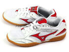 Mizuno Crossmatch Plio RX2 Unisex Table Tennis Sneakers White/Red 81GA143062