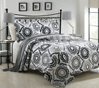 3 Piece Mayanni Gray Sunflower Quilt Set