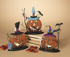 "10"" Metal Glitter Pumpkin Candle Holder Fall Halloween Decoration Home Decor"