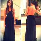 2015 new Long Women's Backless Casual Pub Prom Gown Dresses Clubwear Size S~L
