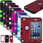 Rugged Heavy Duty Shock Proof Hard Case Hybrid Cover For Ipod Touch 5 5th Gen