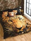 Leopard Duvet Cover Single OR Double OR King Size Bedset Photographic Print New!