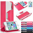 Flip Wallet Leather Case Cover For Apple iPhone 4 4S FREE Screen Protector New