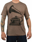 Men's Annex Phonograph Gramophone Steampunk Victorian Retro Graphic T-Shirt Top