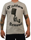 Men's Tattoo Removal by Annex Steampunk Butcher Knife Silver Gray T-Shirt Tee