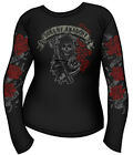 SONS OF ANARCHY REAPER ROSES LONG SLEEVE JUNIORS SHIRT NEW !