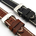 Heavy Stitched Saddle Leather Watch Strap Band by CONDOR 22mm 24mm 26mm 319R