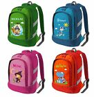 Kids Backpack Bicolor By Name And Desired Design With Reflectors