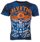 ARCHAIC by AFFLICTION T-Shirt BLACK TIDE Skull Tattoo Motorcycle Biker UFC $40 b