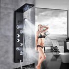 Stainless Steel Shower Panel Tower Rain Waterfall W/Massage Bodys System Jet Tap