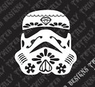 Star Wars Stormtrooper sugar skull car truck vinyl decal sticker empire darth $4.99 USD on eBay